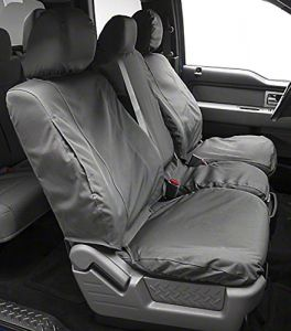 Covercraft SS2463PCGY SeatSaver Front Row Custom Fit Seat Cover for Select Chevrolet Express//GMC Savana Models Polycotton Grey