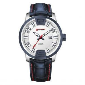 huge selection of 24ebe 78069 Cruiser Mens White Dial Leather Band Watch - C2139-GPW