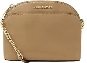ae2ea953296c Michael Kors Emmy Medium Leather Crossbody Bag. Dark Khaki