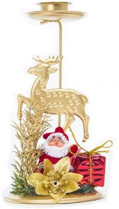 Christmas Reindeer Sleigh Candle Holder Candlestick Party Table Decor Romantic Home & Garden Candles & Holders