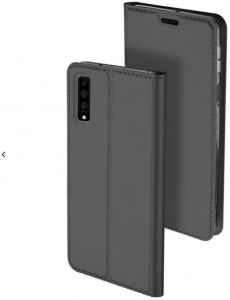 Samsung A7 2018 Flip Skin Pro Series Leather Case Cover - Black