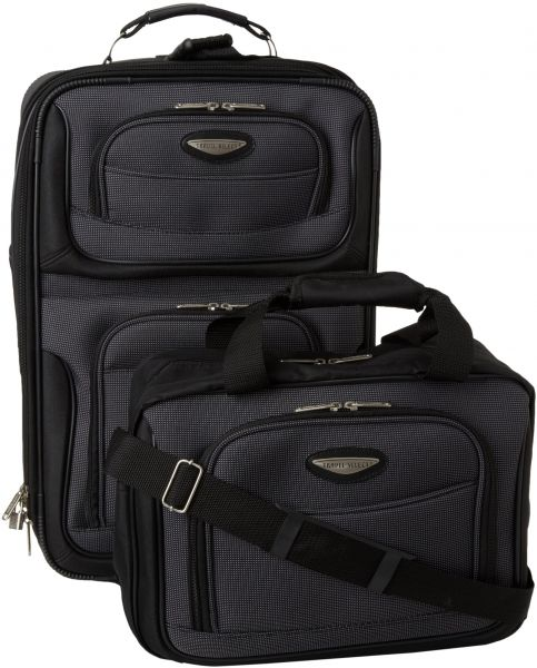 458475816f6a Travelers Choice Travel Select Amsterdam Two Piece Carry-on Luggage ...