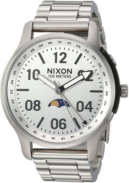 acfb7625a Nixon Men's 'Ascender' Quartz Stainless Steel Casual Watch,  Color:Silver-Toned (Model: A12081920) | KSA | Souq