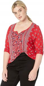 Lucky Brand Women s Plus Size Mix Print Scarf TOP 27933575e
