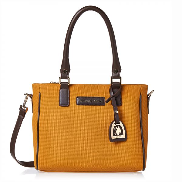 U.S. Polo Assn. Leather Tote Bag for Women - Yellow db068f8d8e