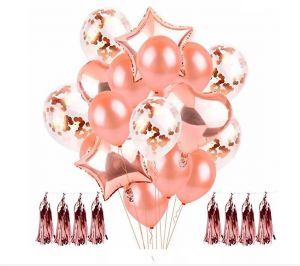 Wedding ceremony celebrates the Balloon12 inch clear latex wedding, a rose gold Cardioid ballon Balloonparty anniversary Balloonhappy birthday Balloon