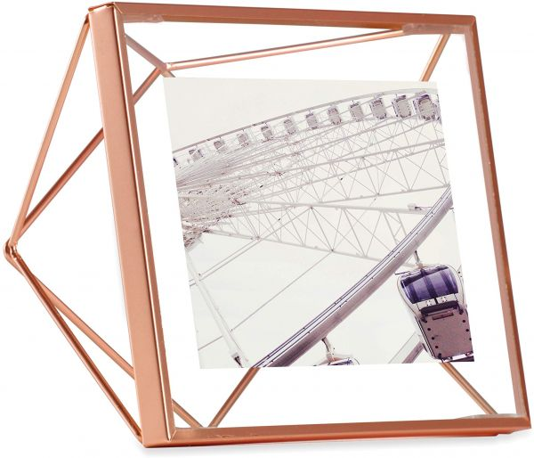Umbra Prisma 4 X 4 Picture Frame Floating Wall Or Desk Photo