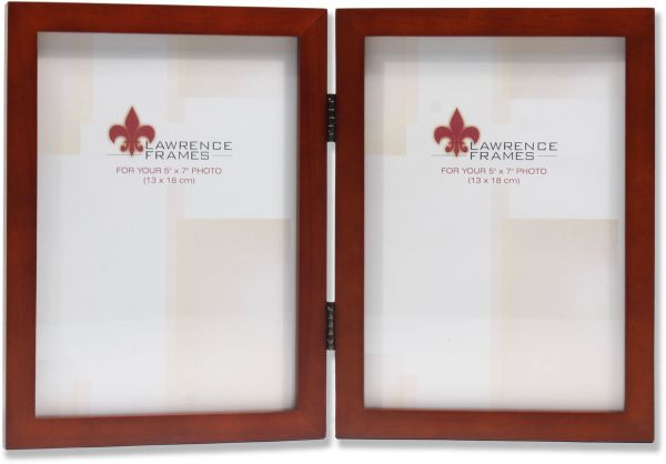 Lawrence Frames Hinged Double Walnut Wood Picture Frame Gallery