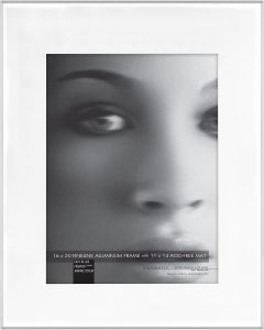 c38b6c08b339 Framatic Fineline 16x20 Inch Aluminum Frame Matted to 11x14 Inch Photo