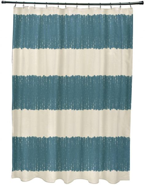 E By Design Scsn375bl37iv4 Twisted Stripe Print Shower Curtain 71
