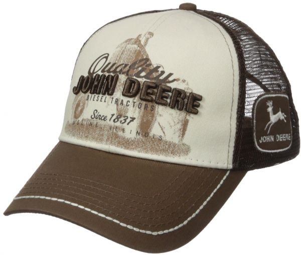 63c717746 John Deere Quality Tractor Logo Baseball Hat - One-Size - Men's - Brown,  One Size