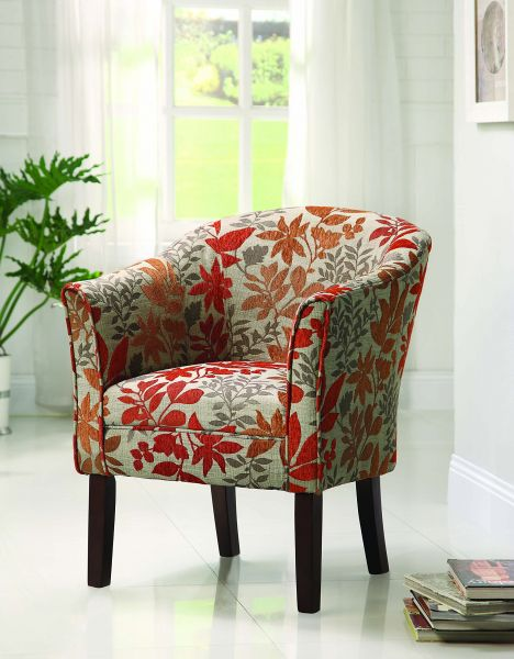 coaster traditional accent chair with autumn upholstery souq uae rh uae souq com Just Accent Chairs Discount Accent Chairs Living Room