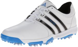 adidas Golf Men s Tour 360 X White Core Black Bahia Blue Sneaker 11 D -  Medium d6aa926ac