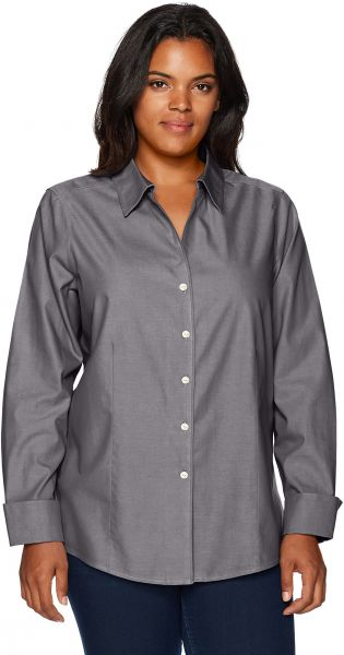 59522b89110f29 Foxcroft Women s Long Sleeve Lauren Essential Non Iron Shirt ...