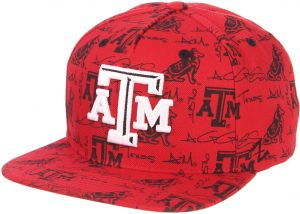 outlet store 6cb2b 8372d Zephyr NCAA Texas A M Aggies Men s Manic Snapback Hat, Adjustable, Dark Red