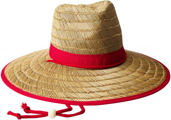 9a9161dc83dbf San Diego Hat Company Women s Rush Straw Lifeguard Hat with Fabric Band