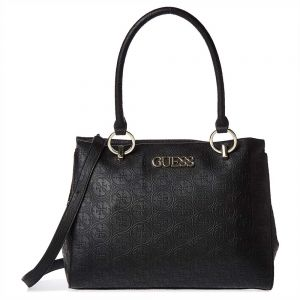 43286fa2e78 Guess Heritage Pop Large Girlfriend Satchels Bag for Women - Faux Leather,  Black