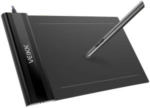 VEIKK S640 6 x 4 inch Ultra-Thin OSU Tablet Graphics Drawing Tablet with  Battery-Free Pen ( 8192 Levels Pressure Sensitivity )