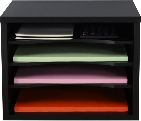 FITUEYES 4 tiers Home Office Stationary Stands Desktop Supplier for File  Document Magazine Letter Storage DO403501WB