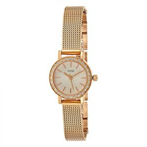 d9d5860ae75 Guess Fashion Women s White Dial Stainless Steel Band Watch - W0954L3
