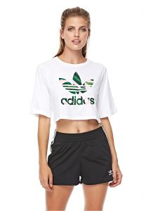 0b358ea73f09d adidas Cropped Tee For Women