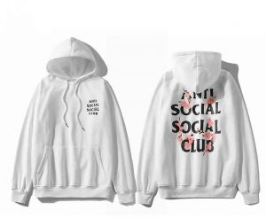 5f1a73885f20 Anti Social Social Club cherry blossom Hoodie Ins Hot Assc White Unisex  Hooded Sweatshirt For Men And Women