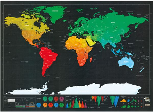Scratch Off World Map Poster.Scratch Off World Map Poster Travel Map With Us States And Country