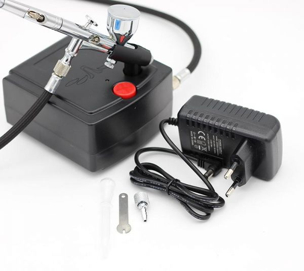 Gravity Feed Dual Action Airbrush Air Compressor Kit for Art Painting Nail Tattoo Spraying Air Brush Spray gun Tools Set