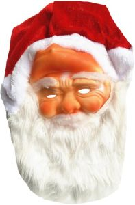 061c6796f97 Santa Claus mask hat plush beard hat adult Christmas hat