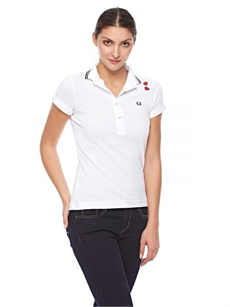 dac67f59 Fred Perry amy Fred Perry Polo T-Shirt for Women - White | KSA | Souq