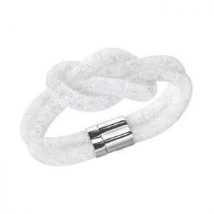 Swarovski Women Palladium Plated Nylon And Crystals Magnetic