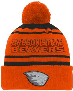 differently dcfa5 abfc0 NCAA Oregon State Beavers Youth Boys Reflective Cuff Knit Hat w Pom, Black,  Youth One Size
