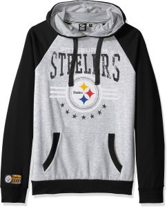 822d8ddf3 Icer Brands NFL Pittsburgh Steelers Men s Fleece Hoodie Pullover Sweatshirt  University
