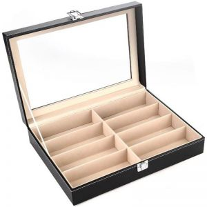 94af250edc 8 Slots Eyeglasses Sunglasses Storage Organizer Display Case Box ...