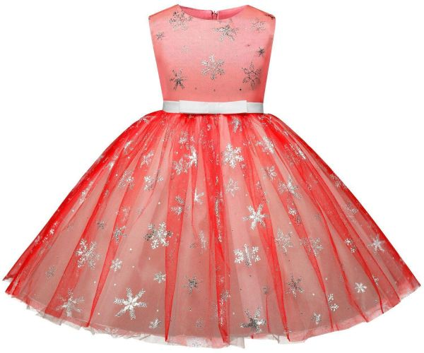03b362969590 Girls Christmas Flower Dress Kids Dresses for Girl Princess Autumn ...