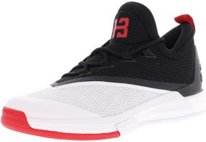 adidas Men s Crazylight Boost 2.5 Low Black   Scarlet WHite ankle-High  Basketball Shoe - 9M d8ce54adc