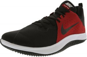 Nike Men s Fly.By Low Gym Red   Black - White ankle-High Fabric Basketball  Shoe 11.5M 52f57bedf