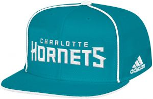 official photos 4a22f 2c7ec adidas NBA Charlotte Hornets Men s Fanwear Team Flat Brim Snapback Cap, One  Size, Teal