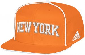 info for 1e357 492b5 NBA New York Knicks Men s Fanwear Team Flat Brim Snapback Cap, One Size,  Orange