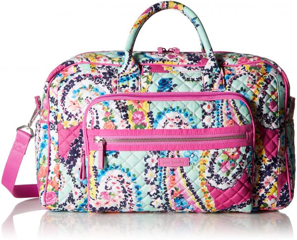 Vera Bradley Iconic Compact Weekender Travel Bag - Signature ... bc810708f1119