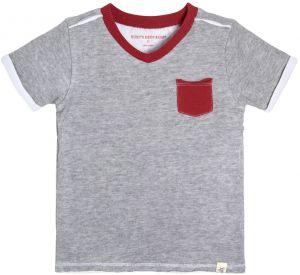 72553d715 Burt's Bees Baby Boys' Little Kids T-Shirt, Short Sleeve V-Neck and  Crewneck Tees, 100% Organic Cotton, Heather Grey Double/Faced Jersey, 6  Years