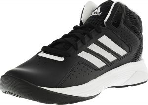 0b33f34e9 Adidas Men s Cloudfoam Ilation Mid Black   Matte Silver White High-Top  Leather Basketball Shoe - 9W