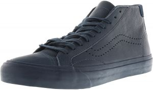 4f4198216f6 Vans Court Mid Dx Leather Midnight Navy Ankle-High Canvas Skateboarding Shoe  - 8M   6.5M