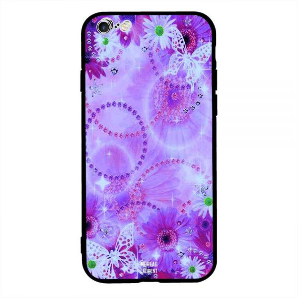 87bf1f5028926d Apple iPhone 6s Plus Case Cover White Butterflies on Purple Floral ...