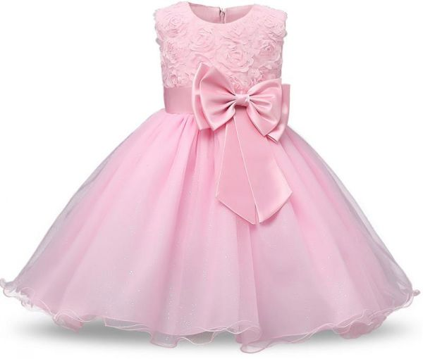 1984beb7d222 Princess Flower Girl Dress Summer Tutu Wedding Birthday Party Dresses For  Girls Children s Costume Teenager Prom Designs Pink
