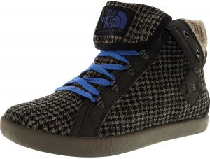 dc14b16b56a8 The North Face Women s Base Camp Roll-Down Houndstooth Tnf Black   Dutch  Blue Mid-Top Fabric Fashion Sneaker - 9M