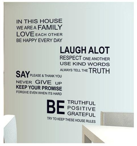 DIY Large Black We Are Family English Letter Wall Stickers Quotes for Glass Decal Adesivo De Parede Home Decor Wall Decals Art | Souq - UAE