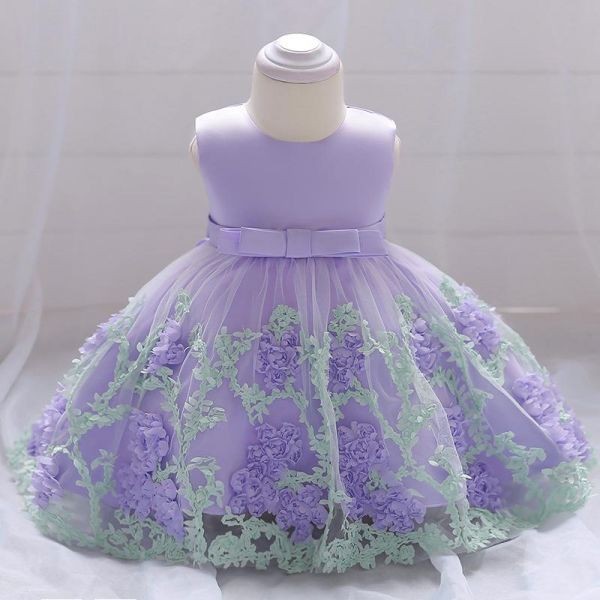 0a22e7f02 Baby Girl Fresh Three-Dimensional Flower Princess Dress Formal Girl ...