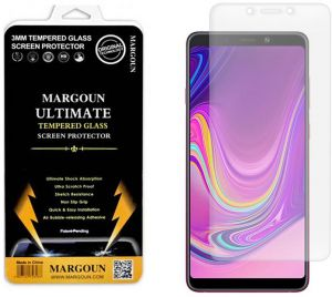 Margoun for Samsung Galaxy A9 2018 (6.3 inch) Tempered Glass Screen Protector - Scratch Resistance, Non Slip Grip, Quick and Easy Installation Protective ...