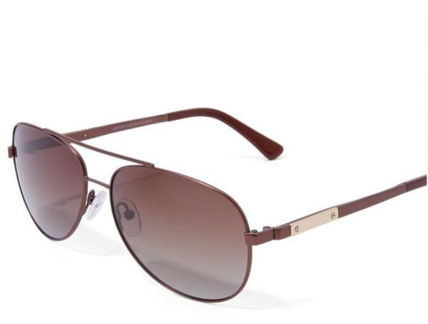 9ad9a20ad Aviator Sunglasses for Unisex MEC 7058 Brown Polarized Size 61